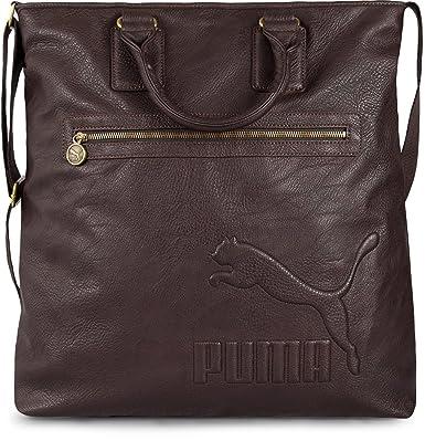9cde08e97b7a Puma Heritage Edition Shopper - Shoulder Hand Bag - Brown (Brown ...
