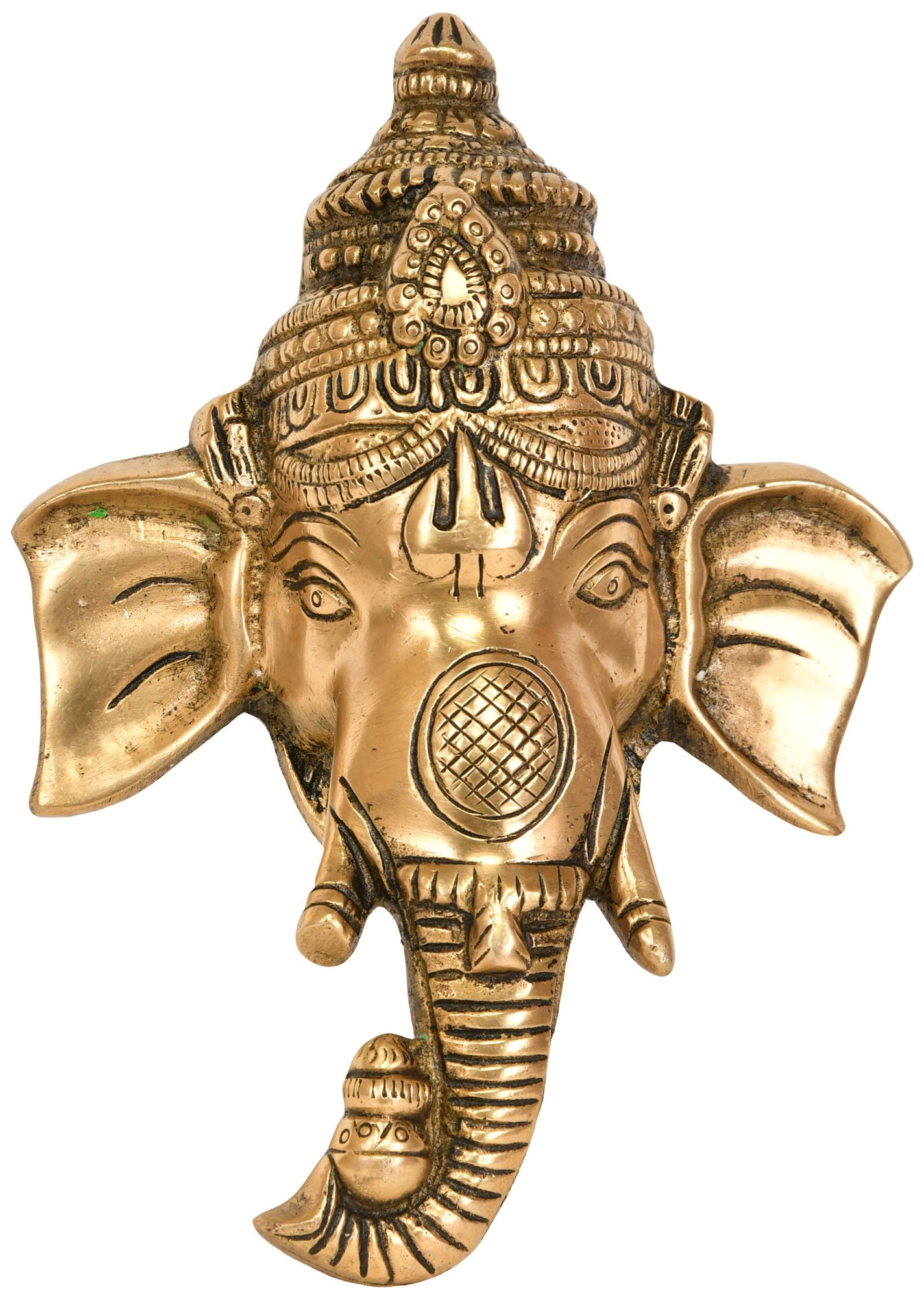 Exotic India ZCJ92 Lord Ganesha Wall Hanging Mask