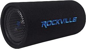 """Rockville RTB80A 8"""" 400 Watt Powered Subwoofer Bass Tube + MP3 Input"""