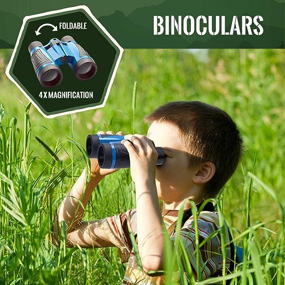 Joyjoz Kit de Exploración al Aire Libre para Niños 12Pcs, Educativos de Ciencias Juguetes de Regalo para Niños, Insectos con Envases, Binoculares, Redes de Mariposa, Lupa, Linterna, Silbato: Amazon.es: Deportes y aire