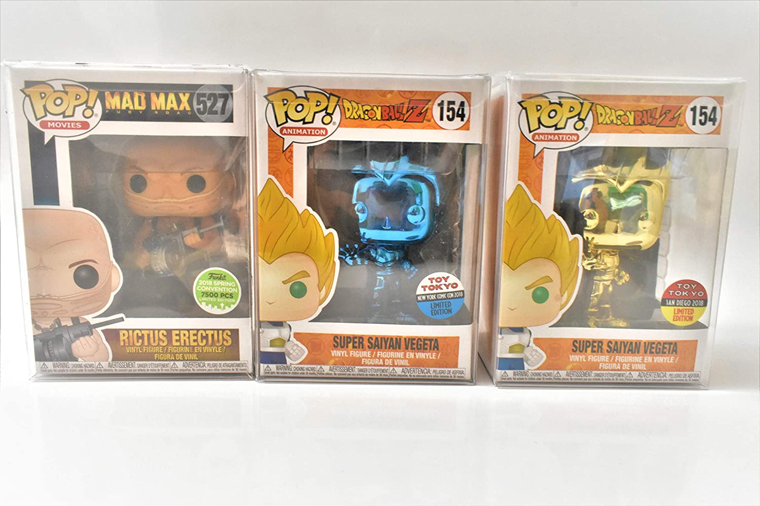 Fit All Standard 4 Inch Pop Figures Pack of 10 Cases Pop Protector Acid-Free Crystal Clear Case