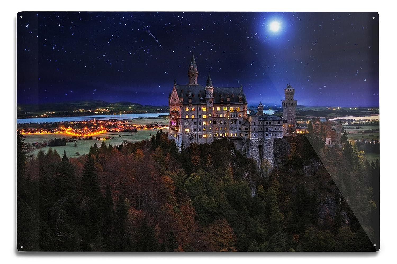 Amazon Com Neuschwanstein Castle At Night Germany 9x12 Art Print