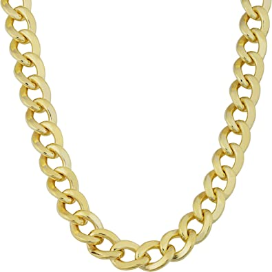 Cool Classic 9K White Gold Filled Necklace Womens Chain Link Pendant Necklace