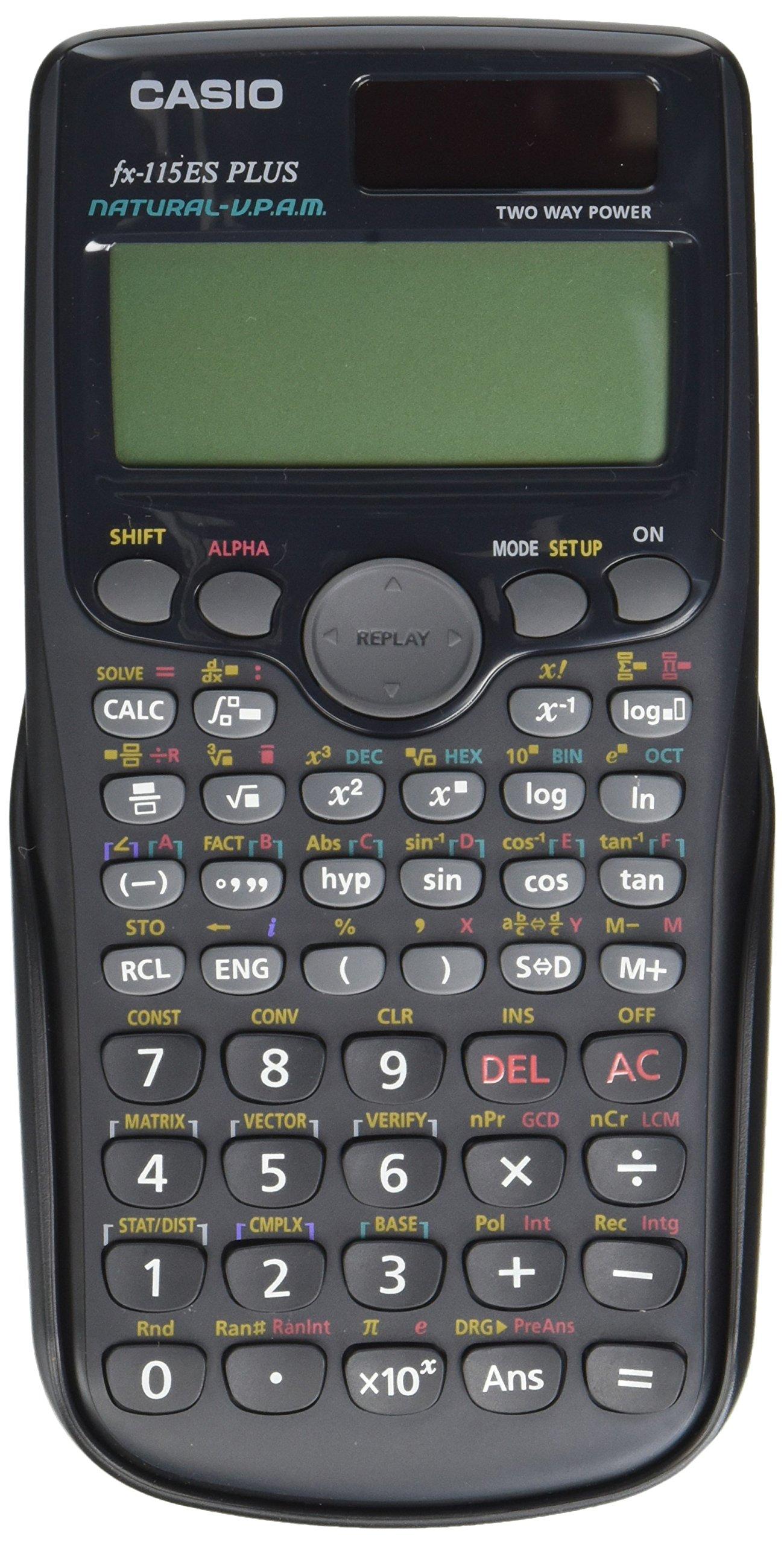 Casio FX115ESP-BK Scientific Calculator, Black Display