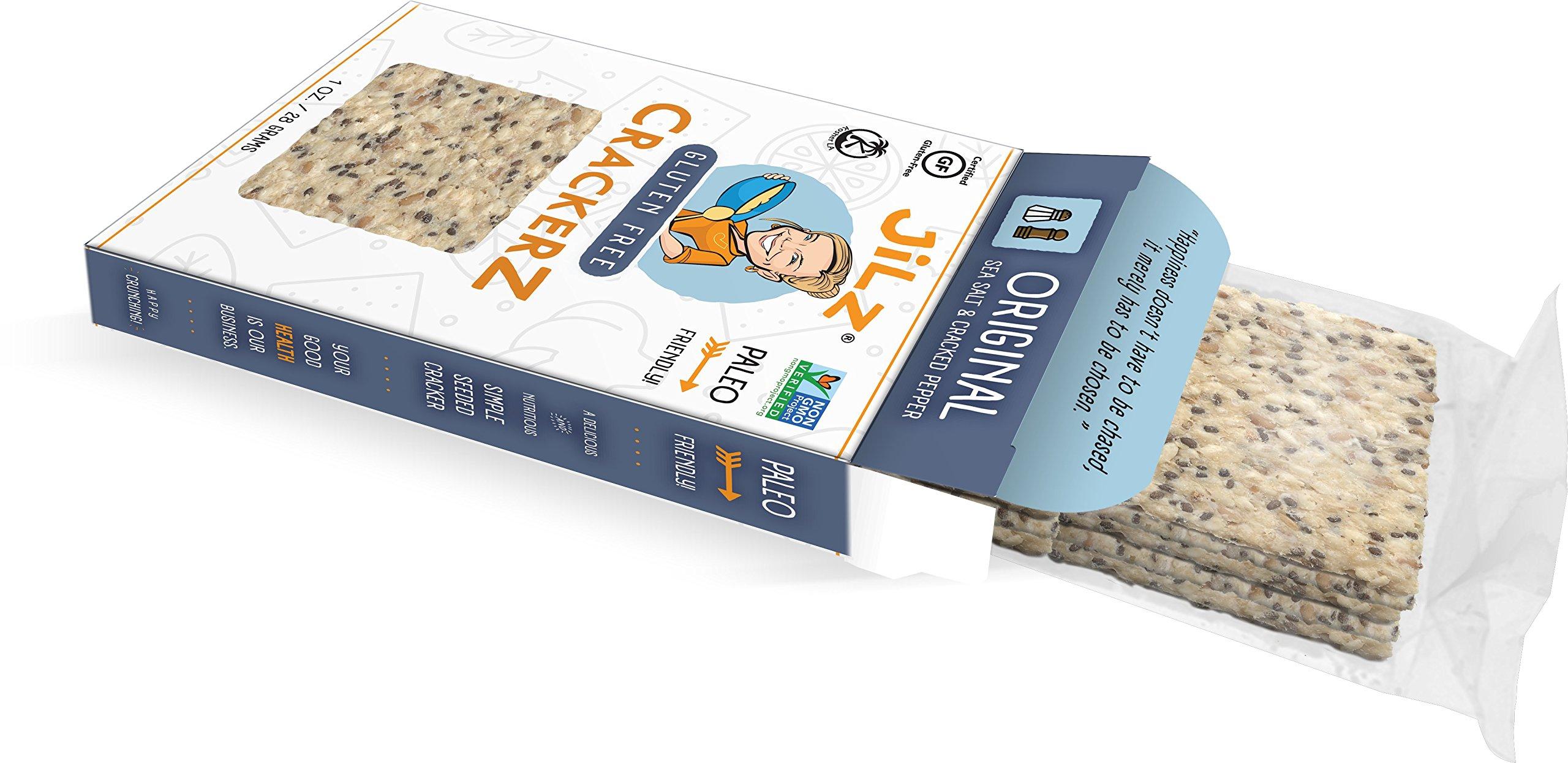 Jilz Gluten Free Grab and Go Single Serve 10 Pack - Cracked Pepper and Sea Salt