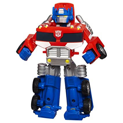 Amazon Com Transformers Rescue Bots Playskool Heroes Optimus Prime