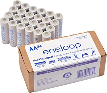 24-Pack Panasonic AA 2100 Cycle Ni-MH Pre-Charged Rechargeable Batteries