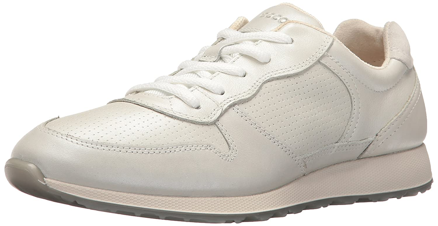 ECCO Women's Sneak Retro Tie Fashion Sneaker B01FFZQ7RO 35 EU/4-4.5 M US|White/Shadow White