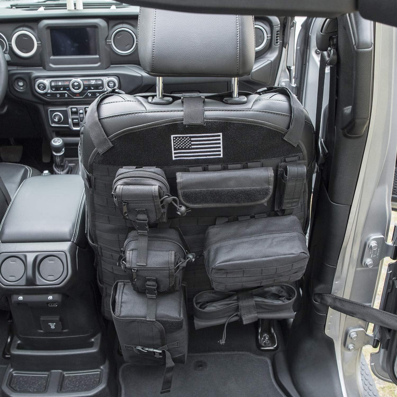 Front Seat Cover Case Organizer Storage Holder Pockets for Jeep Wrangler JK JL