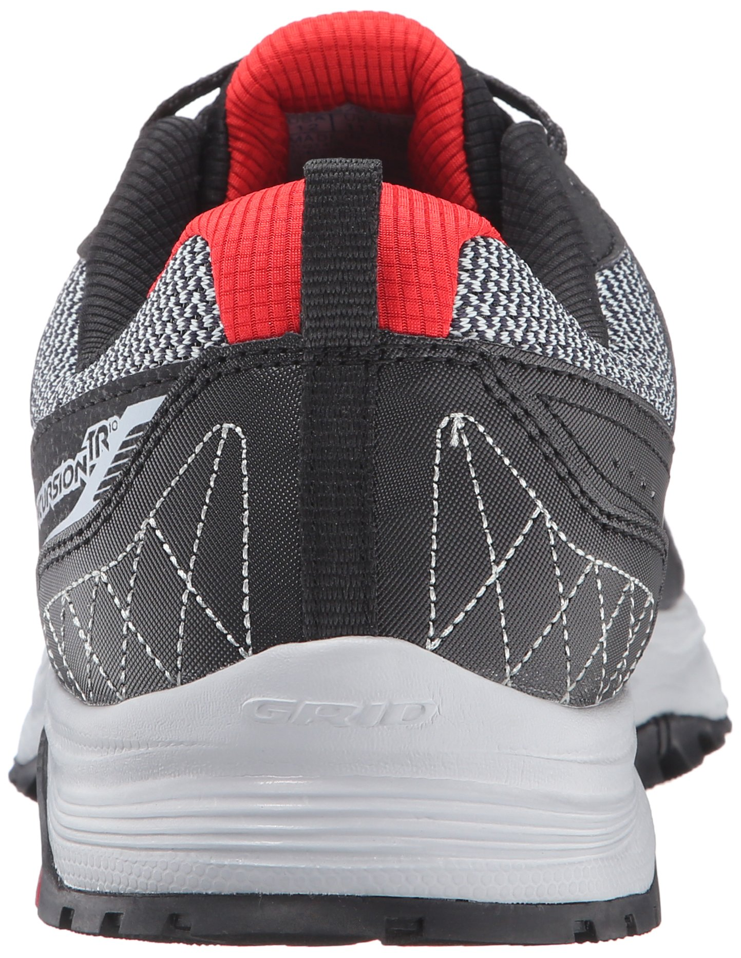 Saucony Men's Grid Excursion TR10 Running Shoe, Grey/Black/Red, 8 M US by Saucony (Image #2)