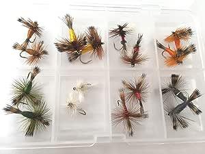 Irlandés Wulff seco moscas 16 moscas juego en libre mosca caja ...