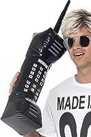 Smiffy's 30-inch Inflatable Retro Mobile Phone - Black