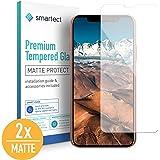 smartect Mattes Panzerglas für iPhone XS/X [2X MATT] - Displayschutz mit 9H Härte - Blasenfreie Schutzfolie - Anti Fingerprint Panzerglasfolie
