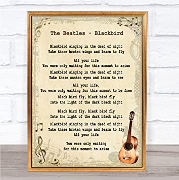 The Beatles Something Black /& White Guitar Song Lyric Quote Print
