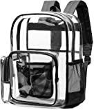 Clear Backpack, NBSail Heavy Duty Clear Backpack for School Reinforced Students Book Bag Transparent Backpack for Work…