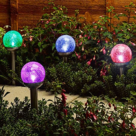 front facing gigalumi cracked glass ball dual led lights