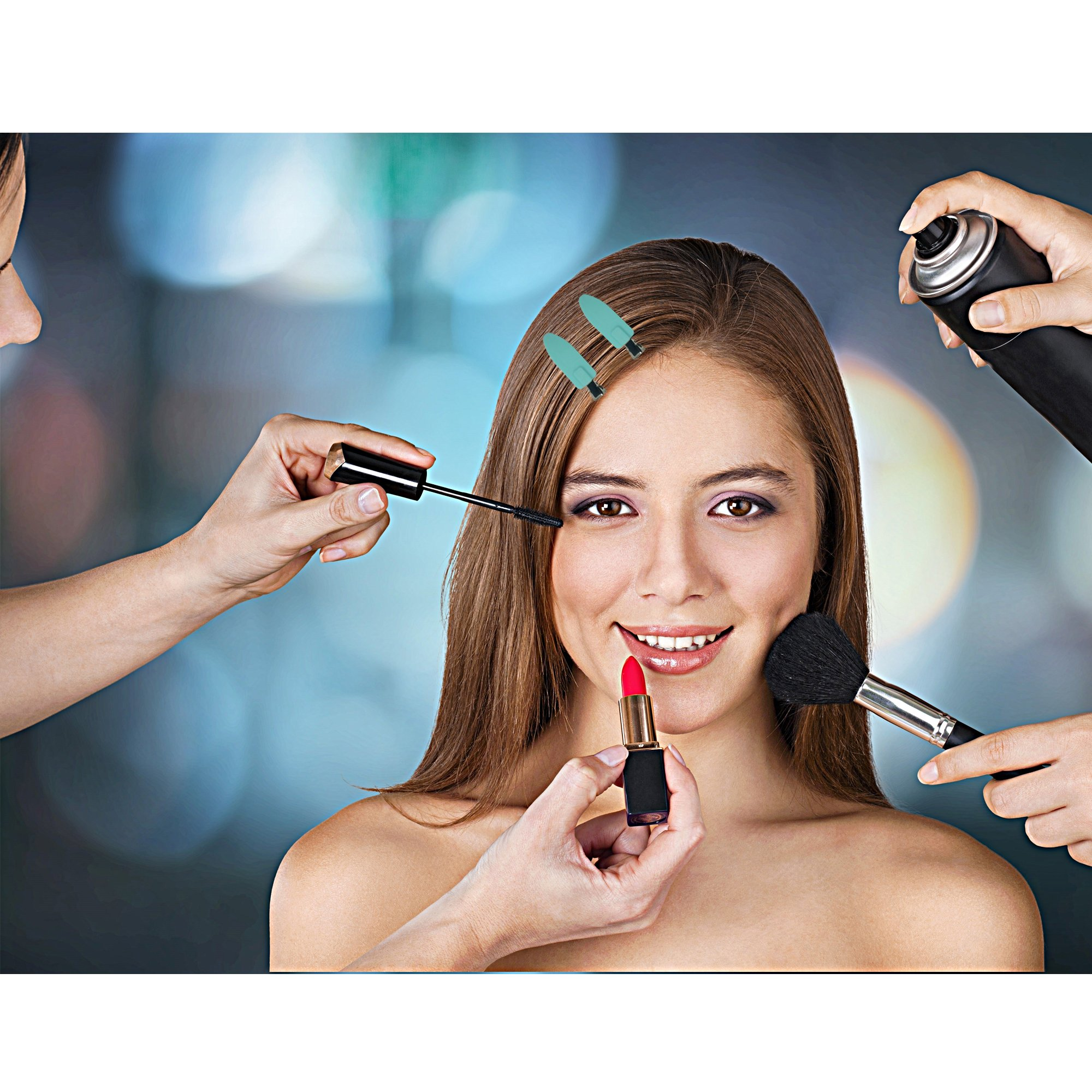 No Crease Hair Clips by A&D Innovation-Set of 6 Rubber No Bend Hair clips used by Professionals & Celebrity Stylists-Perfect for Makeup Application, Styling & Sectioning, will Not Crease or Dent Hair. by A&D Innovation (Image #6)