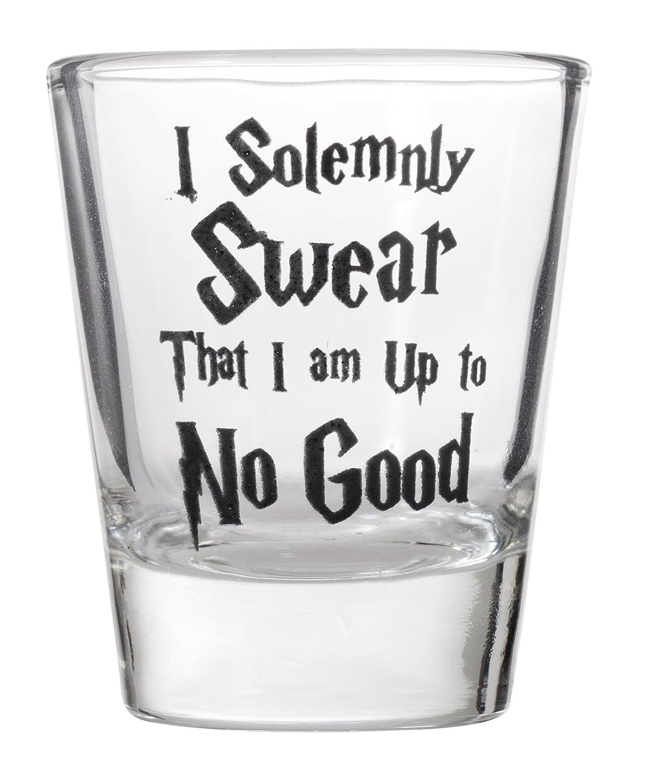 I Solemnly Swear That I Am Up To No Good Shot Glass Shotglasses Artisan Owl 1