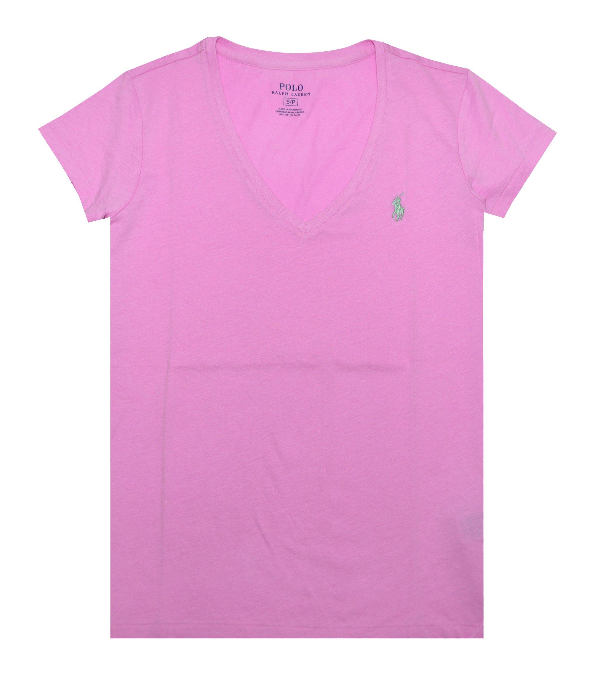 b350f1c41318f Galleon - Polo Ralph Lauren Women s Pony Logo V-Neck Tee (X-Small ...