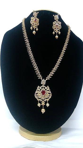 Buy CZ Designer Jewellery Set Online at Low Prices in India Amazon