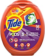 Tide PODS Laundry Detergent Liquid Pacs, Spring Meadow Scent, HE Compatible,