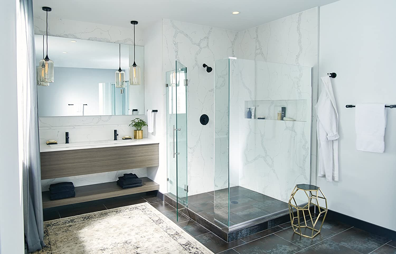 Moen YB0424BL Align 24-Inch Bathroom Towel Bar, Matte Black ...