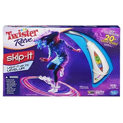 Twister Rave Skip-It Game, White: Toys & Games