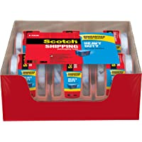 6 Pack Scotch Heavy Duty Shipping Packaging Tape with Dispenser (142-6)