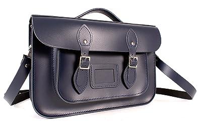 Oxbridge Satchels - Bolso estilo cartera de Piel para mujer Azul azul: Amazon.es: Zapatos y complementos