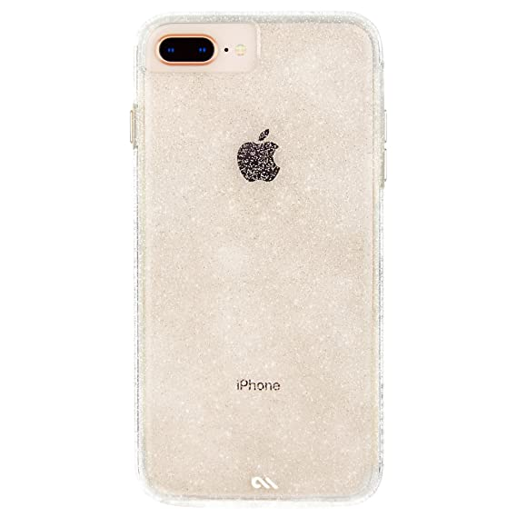 reputable site bd62d 96862 Case-Mate iPhone 8 Plus Case - NAKED TOUGH - Sparkle Effect - Slim  Protective Design - Apple iPhone 8 Plus - Sheer Glam