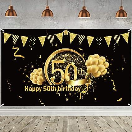 """Party Absperrband /""""50/"""" zum 50.Geburtstag Party Dekoration Geburtstags Deko"""