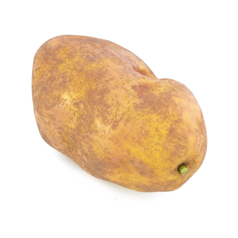 Patata finta, marrone, 10 cm, Ø 6 cm- Verdura finta / Verdura decorativa - artplants