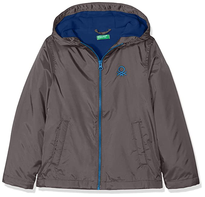 United Colors of Benetton Jacket, Chaqueta Niños, Gris (Dark Gray 27b),