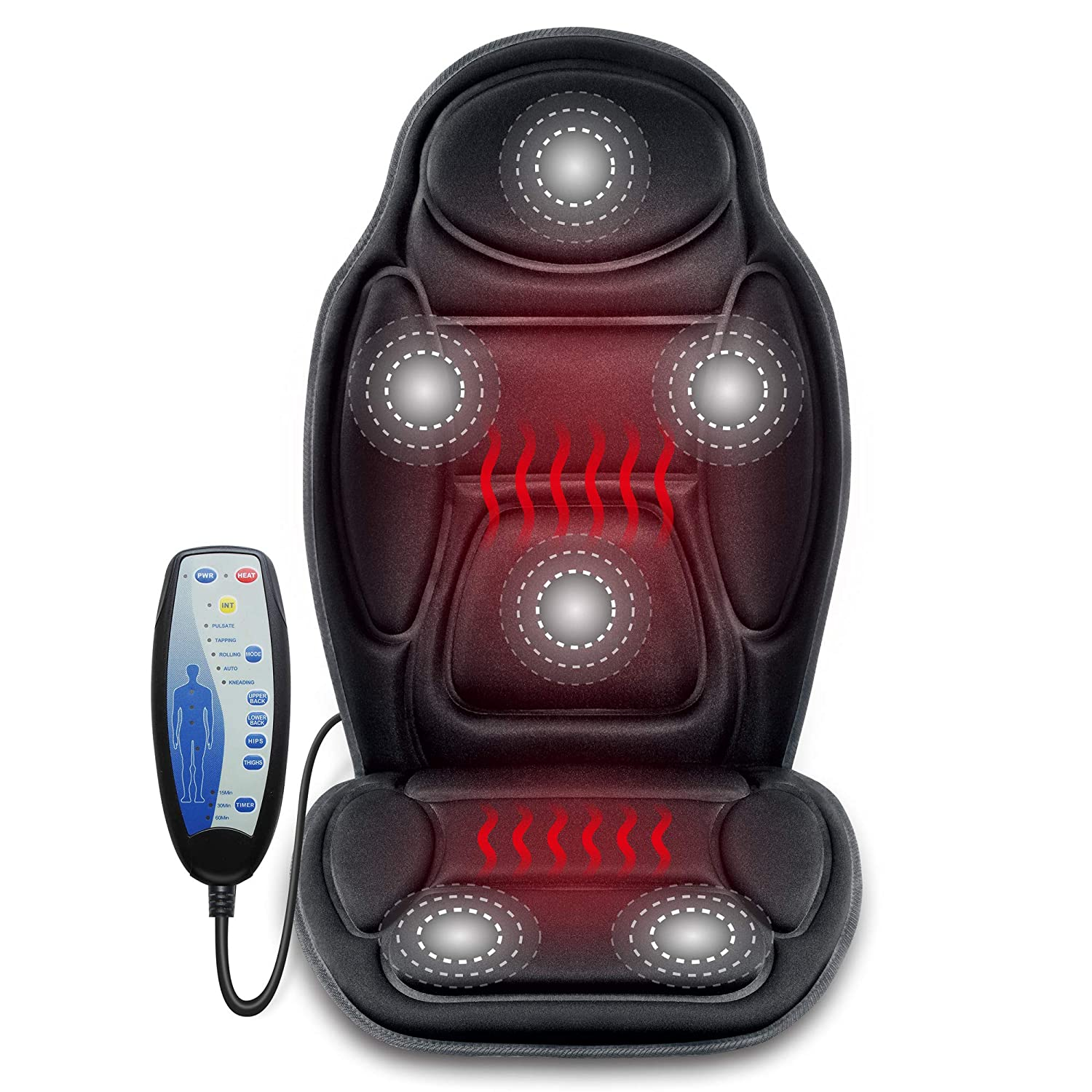 SNAILAX Massage Car Seat Cushion