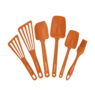 Rachael Ray Tools & Gadgets 6-Piece Nylon Tool Set, Orange