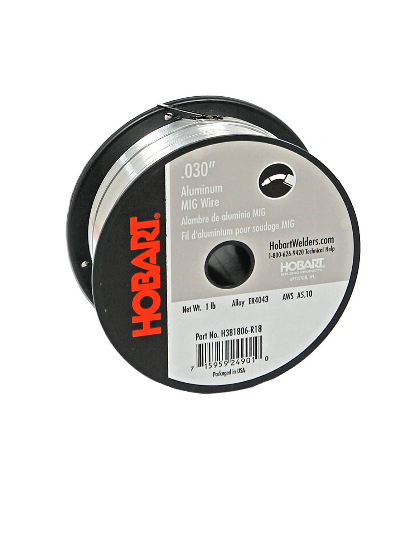 Hobart H381806-R18 1-Pound ER4043 Aluminum Welding Wire, 0.030-Inch ...