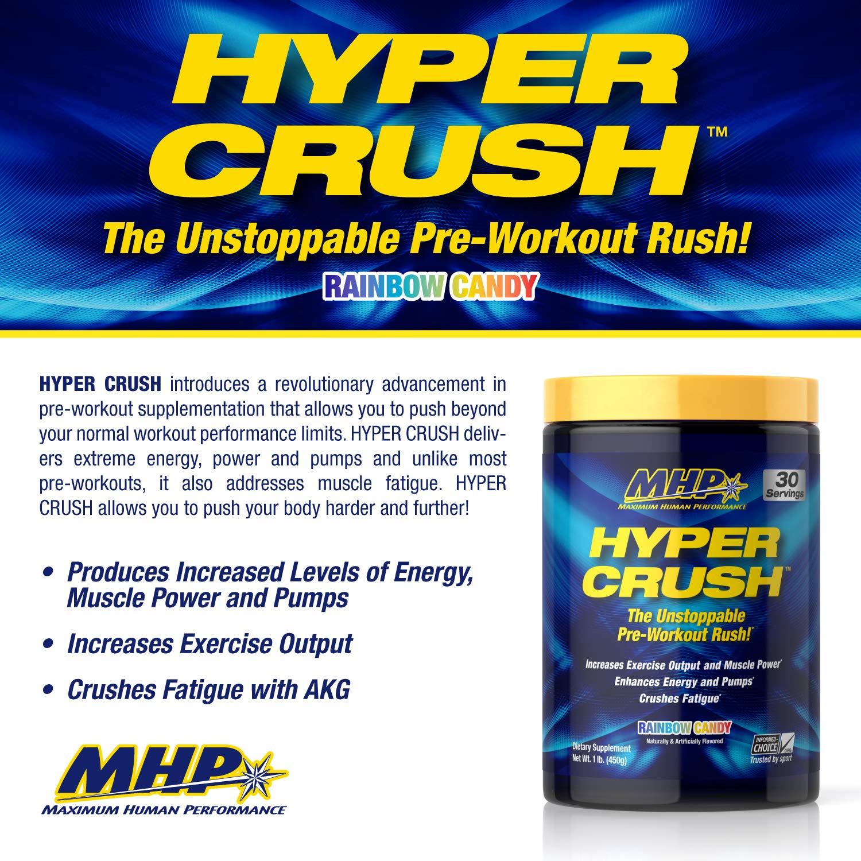 Maximum Human Performance MHP Hyper Crush Pre Workout Energy Drink,  creatine,