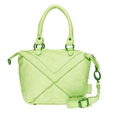 fdce8d024eed1 VOi Damen Mini Shopper 21074 Leder Handtasche Henkeltasche Vintage  Ledertasche Schultertasche Kiwi Grün