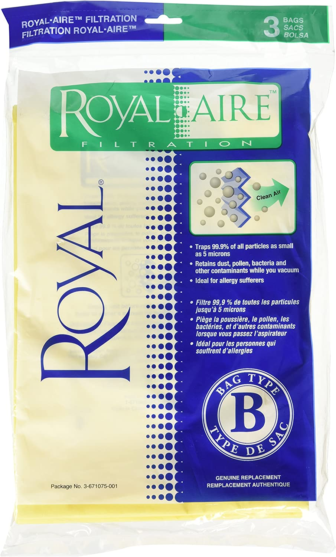 Royal Dirt Devil Paper Bag, Royal Type B Upright Micro Fresh (Pack of 3)