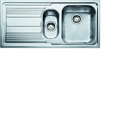Lavabo sobre-encimera, Rectangular, Acero inoxidable, Acero inoxidable, 2 senos, Rectangular Franke Logica Line LLX 651 Lavabo sobre-encimera Rectangular Acero inoxidable Fregadero