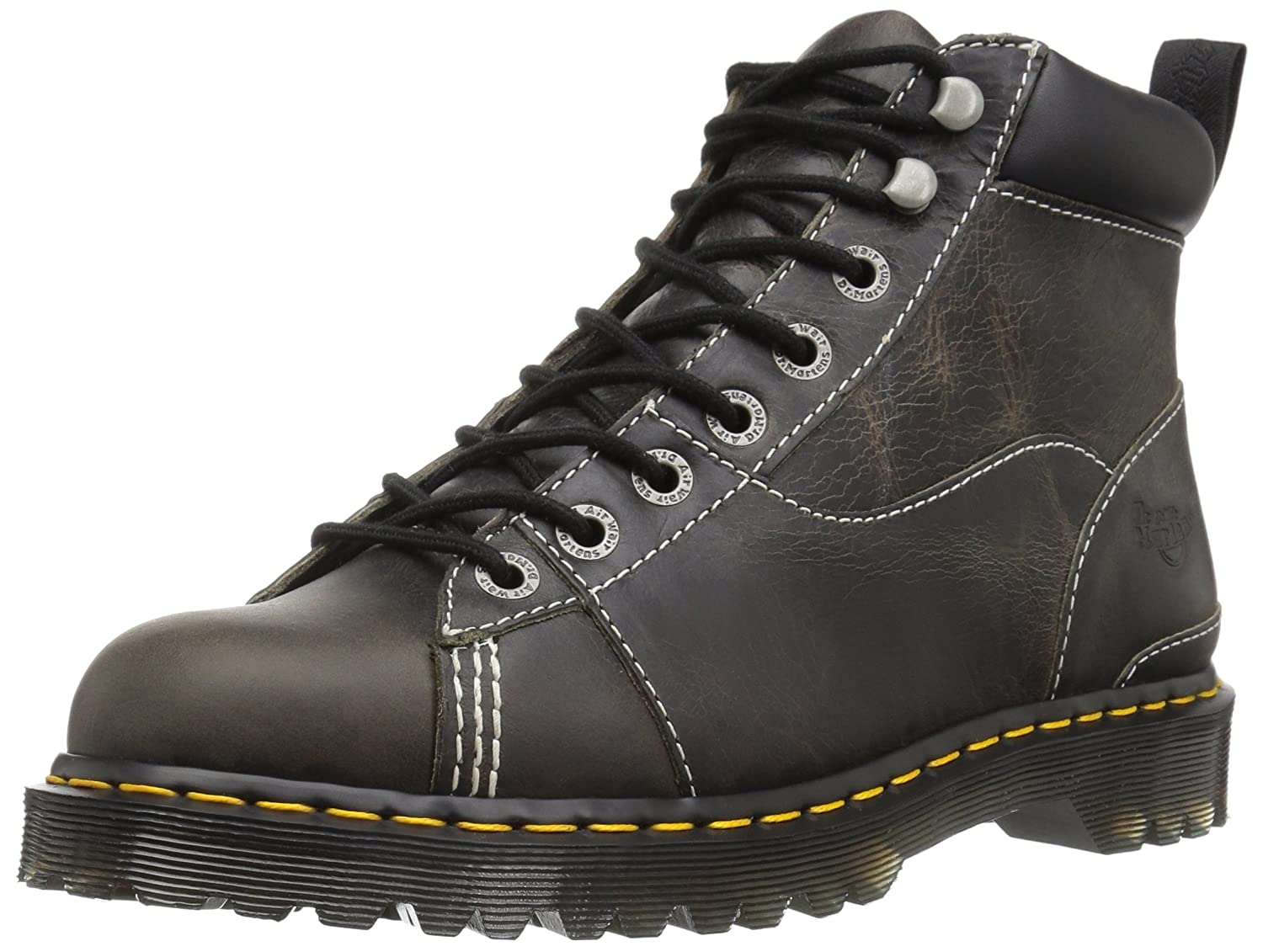 Dr. Martens Alderton Black Greenland Construction Boot B06X9TX79H 9 Medium UK (US Men's 10, Women's 11 US)|Black Greenland
