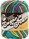 Lily Sugar 'N Cream  The Original Ombre Yarn - (4) Medium Gauge 100% Cotton - 2 oz -  Psychedelic  -  Machine Wash & Dry