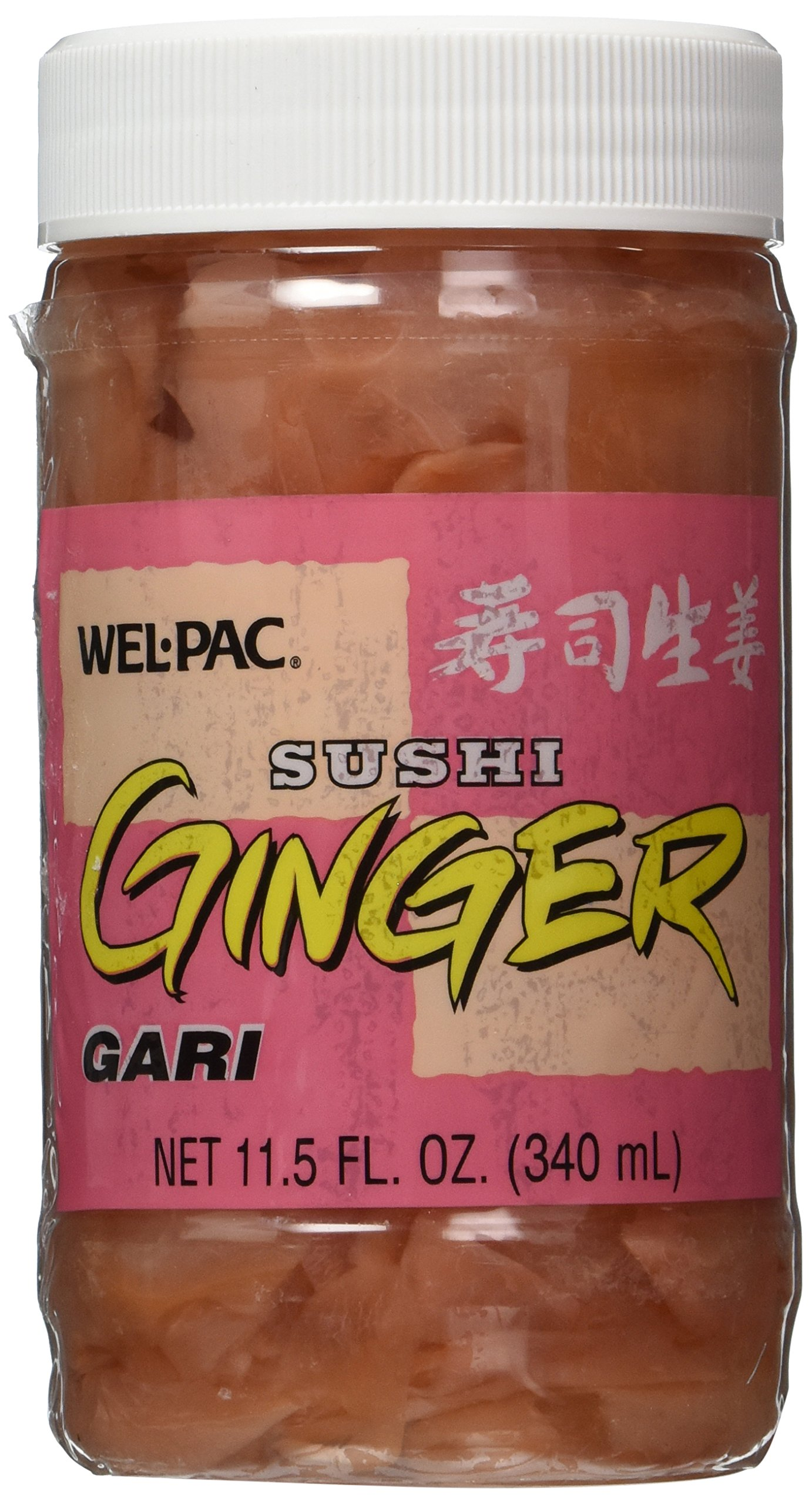 Sliced Pickled Ginger - Net Wt. 11.5 FL. OZ (340 ml)