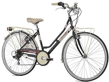 38ab5b9113e Bicicleta Cicli Cinzia para mujer, cuadro de acero, 6 velocidades, 66 cm,