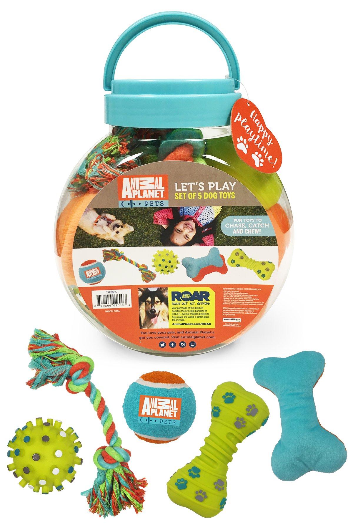 Animal Planet 5 Piece Dog Toy Set