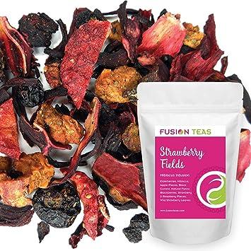 Amazoncom Strawberry Fields Hibiscus Herbal Fruit Tea Caffeine
