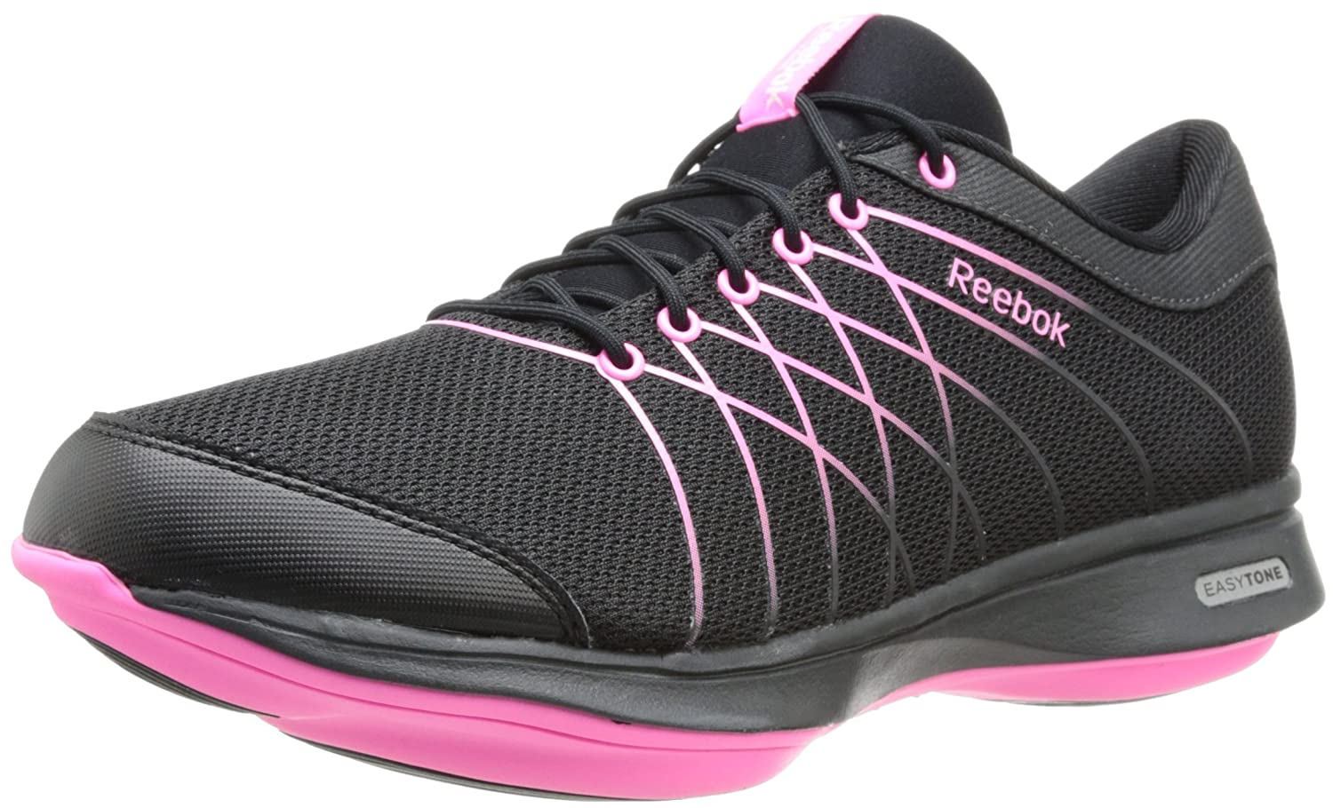 Reebok Women's Easytone Essential III Walking Shoe, Gravel/Black/Electro  Pink, 7 M US: Amazon.co.uk: Shoes & Bags