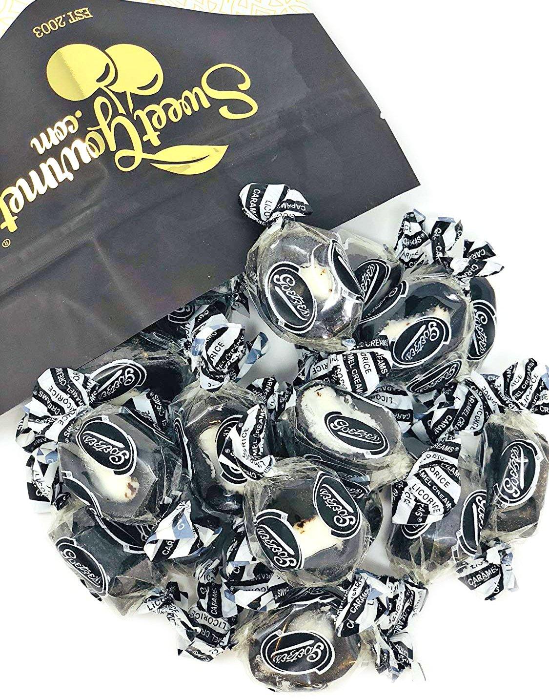SweetGourmet Licorice Caramel Creams | Chewy Licorice Caramel & White Cream Center | 2 Pounds by SweetGourmet