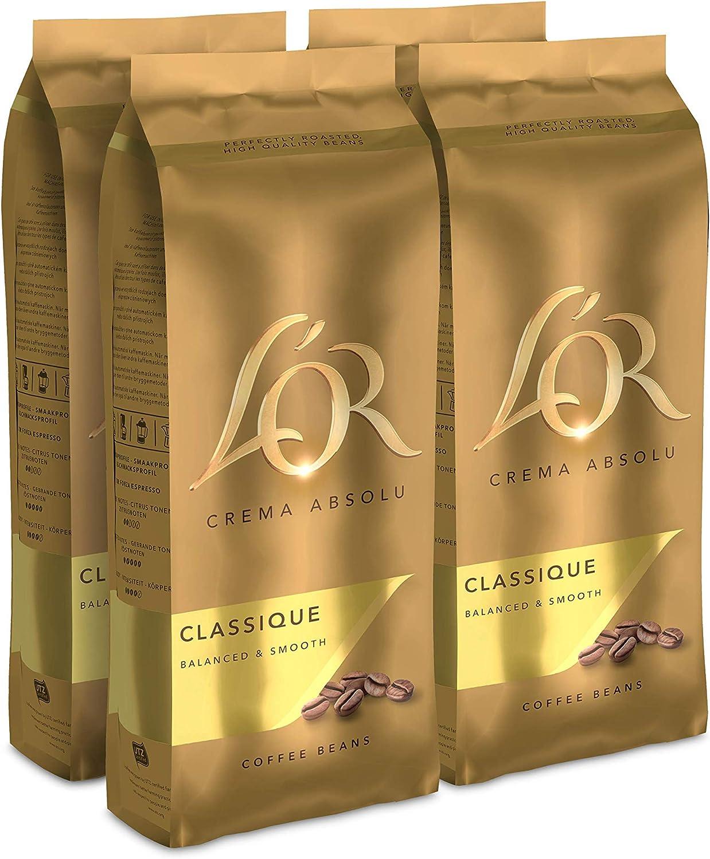 L'OR Café Grano Classique - 4 paquetes de 500gr (2000gr)
