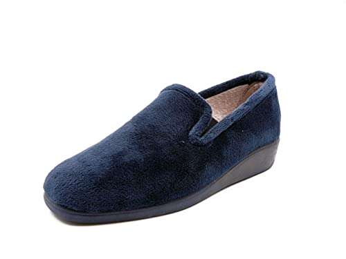 Zapatilla Mujer de Estar en casa INDUSCAL, Ursus Color Azul Marino, Invierno - 2035us - 1N: Amazon.es: Zapatos y complementos